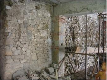 Consolidamento muratura del XIII sec.